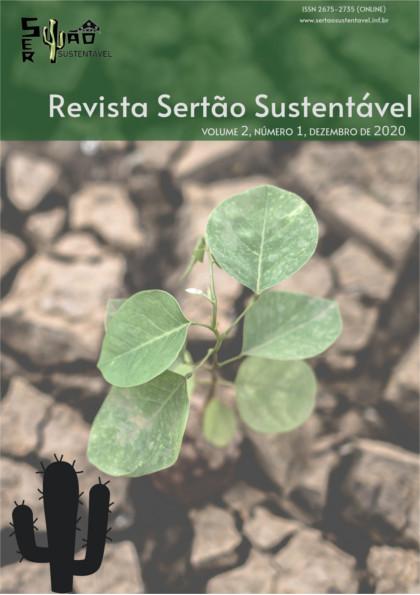 Capa da Revista Sertão Sustentável. Uma planta nascendo em solo árido.